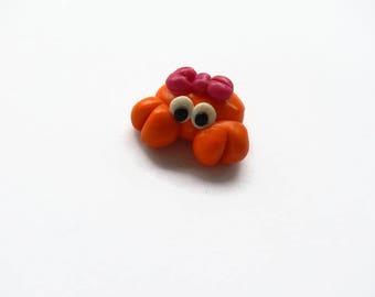 madame polymer clay, summer, sea crab charm