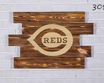Cincinnati Reds Wood Sign  Cincinnati Reds Wall art  Cincinnati Reds Gift  Cincinnati Reds Birthday  Cincinnati Reds Party wooden