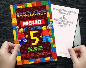 Lego, Lego Invitation, Lego Birthday, Lego Party, Lego card, Lego Printable, Lego Invitations. Lego Invite, Lego Invites, Lego Invitations