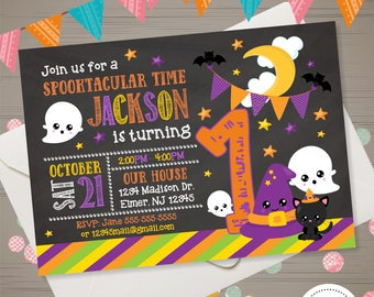 Halloween Birthday Invitation, Halloween Invitation Kids, Halloween 1st Birthday, Halloween Party, Costume Party Invitation Halloween Invite