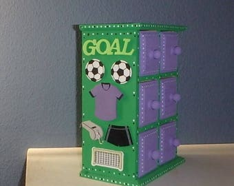 Soccer Keepsake Personalized with name