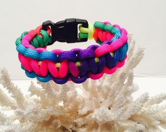 550 Paracord rainbow colors bracelet