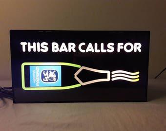 Vintage 1980s Lowenbrau Light Up Beer Sign
