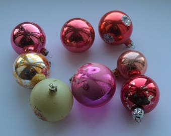 Christmas balls Soviet Vintage Christmas Tree ornaments Collectible Vintage Glass ornaments USSR Glass Glass Christmas decorations #10