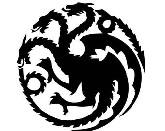Dragons game of thrones SVG PNG PDF