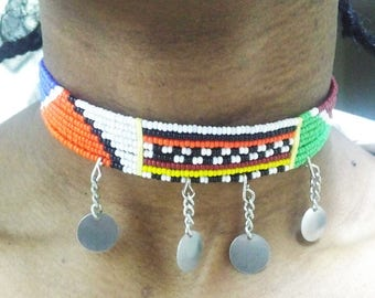 Beaded Necklace - Maasai Necklace - African Beaded Choker