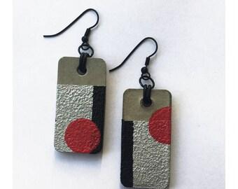 Concrete earrings, handmade,