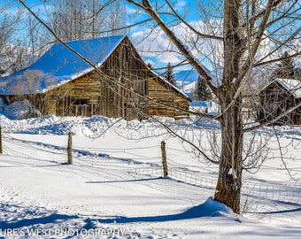 Old Barn, Huntsville, Utah, Landscape Photography, Nature Photography, Fine Art Photography, Wall Art, Home Decor, Gift