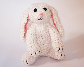 Zach the Bunny Rabbit - Crochet Amigurumi Cute Bunny Plush Bunny Rabbit Toy Bunny Plushie Crochet Bunny Nursery Gift Wild Animal Safe Toy