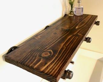 Rustic Shelf // Reclaimed Wood // Shelving // Bathroom // Kitchen // Bedroom // Bathroom
