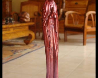 Sculpture statue Virgin craft Madagascar rosewood