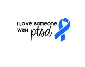 "Love Someone with PTSD | 5"" Vinyl Decal 