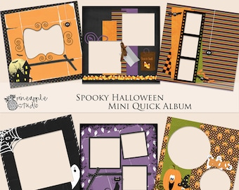 Digital Scrapbook, Scrapbook Kit,  Quick Album, Instant download, Digital Scrapbook,  Scrapbook Paper, Scrap4Hire, Halloween