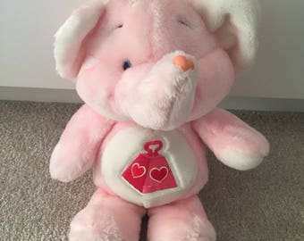 Vintage the Care Bears lots a heart elephant care bear cousin plush kenner