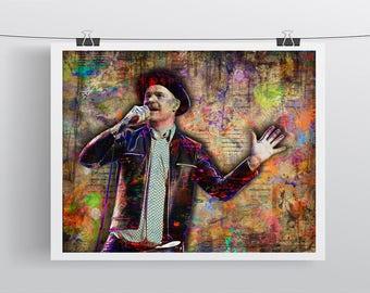 Gord Downie Print, Gord Downie 1964-2017 Memorial Artwork, Gord Downie Tribute Art, Gord Downie Tribute Poster for The Tragically Hip Fans