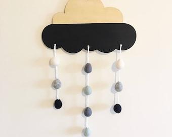 Felt Raindrop cloud