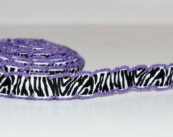 """Zebra Stripe 3/8"""" Grosgrain Ribbon S415"""
