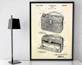 Handbag Patent Print. Vintage Fashion Print. Fashion Inventions. Vintage Handbag Poster. Fashion Gift Idea. Home Decor. Fashion Wall Art.