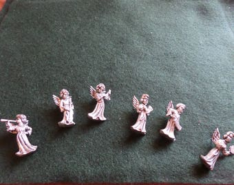 Orchestra of Six Pewter Angel Candle Jewellery