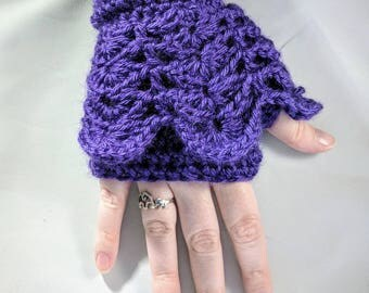 Crochet arm warmers / fingerless gloves / handwarmers