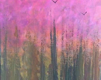 Flight - Acrylic on canvas 30/40cm