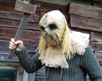 "Mask Scarecrow ""Swamp"", horror, halloween, masquerade, free shipping"