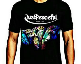 "Men's T-shirt ""JustPeaceful design"""