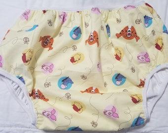 Pooh Tigger Print Adult Baby Diaper Cover Plastic PantsABDL