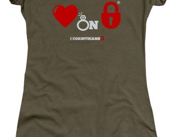 He Has My Heart On Lock Relationship Tee
