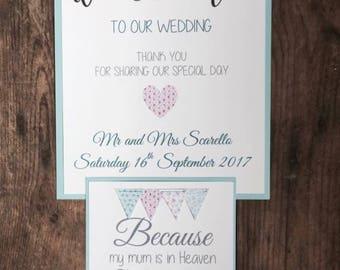 Wedding Shabby Chic Bunting Signs