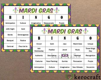 MARDI GRAS BINGO - 40 Cards
