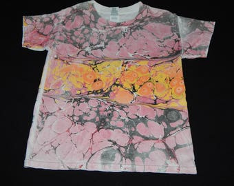 Summer Sunset Youth XS marbled t shirt