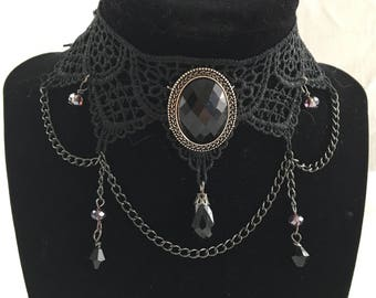 Black Lace Vintage Inspired Choker