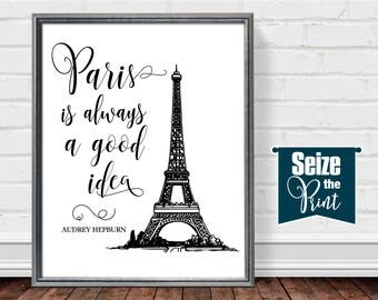 Paris bedroom decor | Etsy
