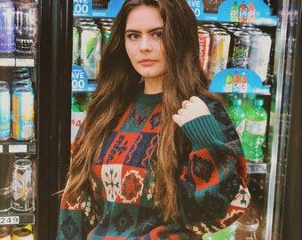 vtg stoneriver colorblock sweater