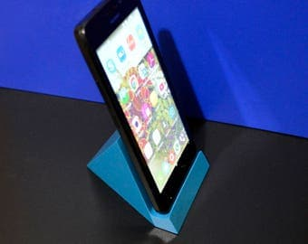 iPhone Stand / iPad Stand / Wooden Stand for iPhone or iPad / Wood Geometric Turquoise iPhone Stand / iPhone 4 5 6 7 8/ Gift for Him or Her