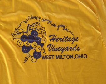 Purple and gold heritage vineyards , heard it through the grapevine large t-shirt