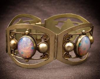 Mexican Glass Opal Vintage Bracelet