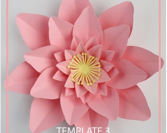 Paper Flower Template, PDF Paper Flower, Paper flower Kit, DIY Paper Flower, Giant Paper Flower Templates, Base and Instruction Including