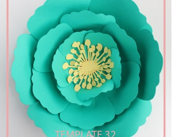 Paper Flower Template, Giant Paper Flower Template, Flower Wall, Cut and Trace Stencil, Photo Backdrop, DIY Paper Flower PDF Paper Flower