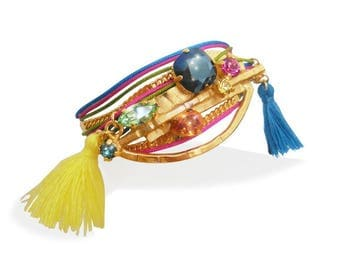 Bracelet Amazinka - multi-row colorful