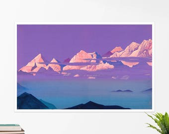 "Nicholas Roerich, ""Himalayas"". Art poster, art print, rolled canvas, art canvas, wall art, wall decor"