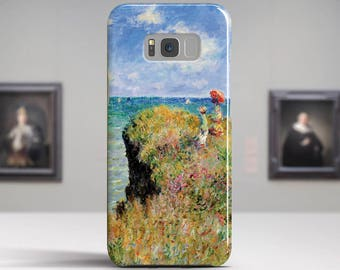 "Claude Monet, ""Cliff Walk at Pourville"". Samsung Galaxy S8 Case LG V30 case Google Pixel Case Galaxy J7 2017 Case and more. Art phone cases."