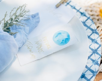 Watercolor Place Cards | Place Cards | Wedding Place Cards | Moon Place Cards