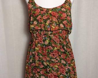 Vintage 1990's Floral Spaghetti Strap Dress • Floral Dress • Summer Dress • Vintage Dress