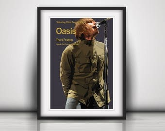 Oasis - The Last Concert Poster Print Olivia Valentine 2017© NEW Exclusive