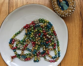 Multicolor Mercury Glass Bead Garland - Approx. 9'