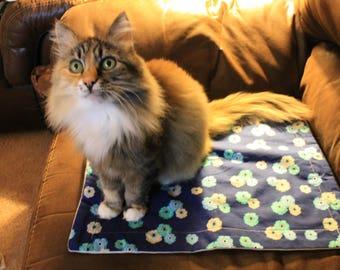 Kitty Cat Mat - Summer Blues