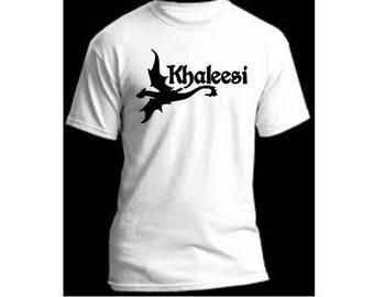 Khaleesi Dragon Game of Thrones Daenerys Targaryen Unisex T Shirt Many Sizes Colors Custom Horror Halloween Merch Massacre