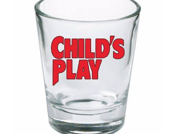 Childs Play Chucky Shot Glass Horror Halloween Drinking Bar Gift for Him Her Merch Massacre